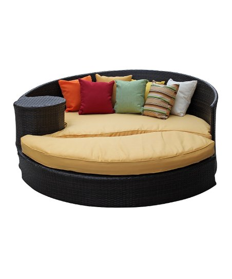 Brown & Orange Taiji Daybed & Ottoman