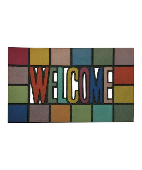 Rainbow 'Welcome' Doormat