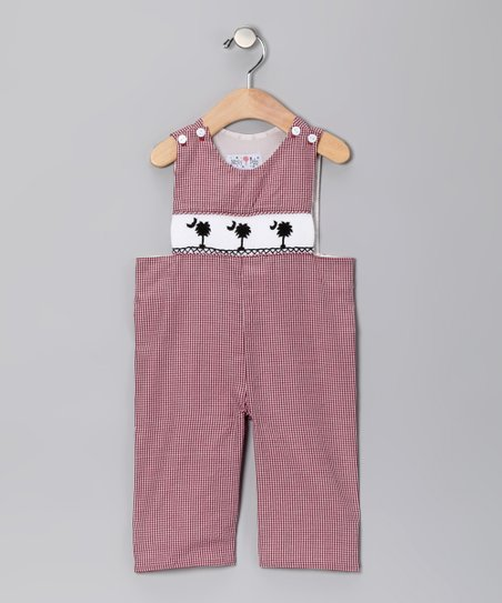 Garnet Gingham Carolina Overalls - Infant, Toddler &amp; Boys