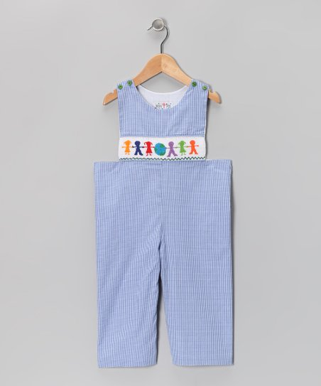 Blue Gingham Children of the World Overalls - Infant & Toddler