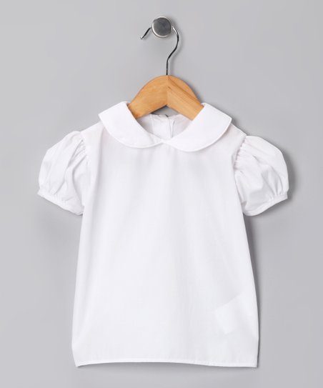 White Short-Sleeve Top - Girls