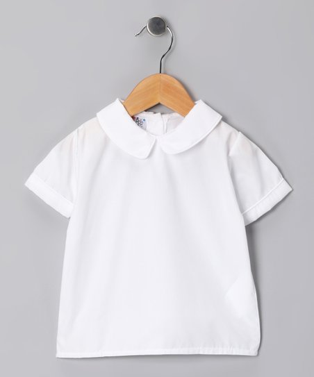 White Short-Sleeve Shirt - Infant, Toddler &amp; Boys