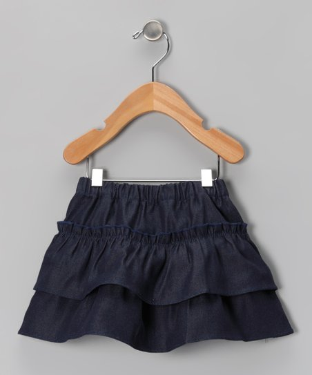 Denim Tiered Ruffle Skirt - Infant, Toddler & Girls