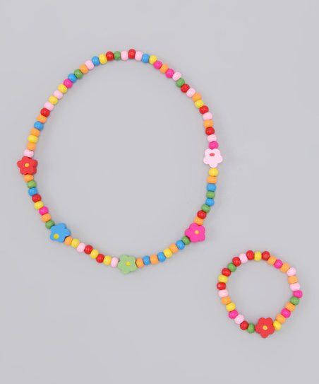 Small Flower Necklace & Bracelet