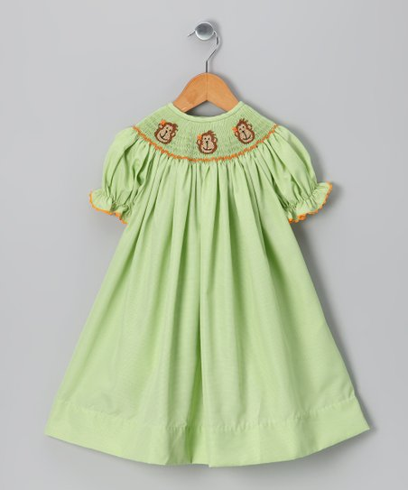 Green Monkey Bishop Dress - Infant &amp; Girls