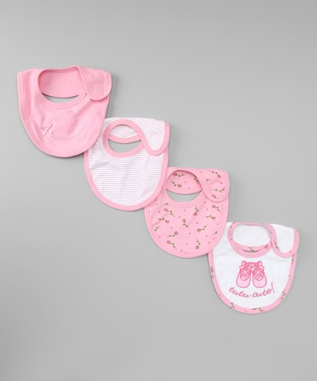 Pink & White Bib Set