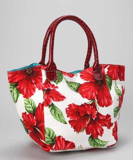 White & Red The Tide Is High Tote