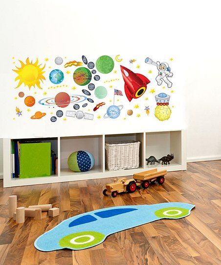 Space Interactive Wall Decal Set