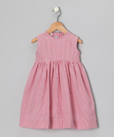 Red Gingham A-Line Dress - Infant & Girls