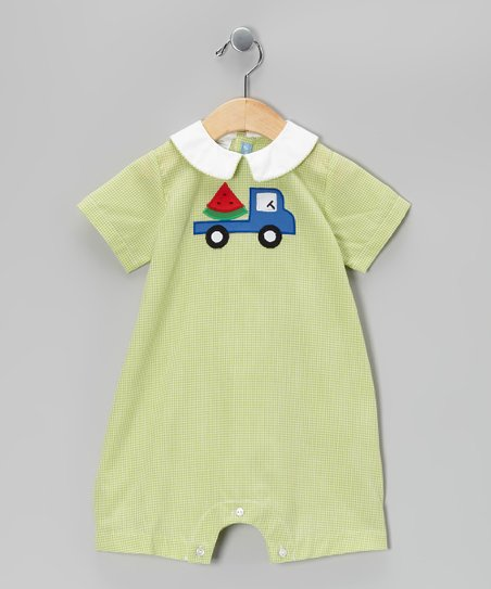 Green Watermelon Romper - Infant