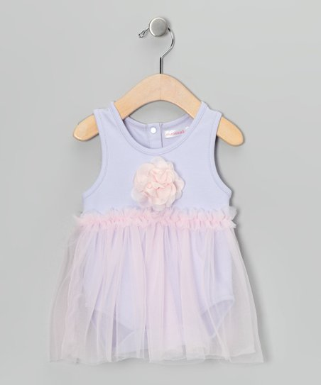Lavender & Pink Floral Skirted Bodysuit - Infant