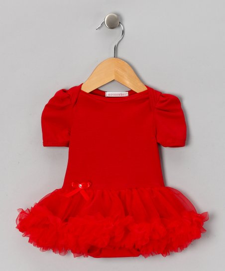 Red Ruffle Skirted Bodysuit - Infant