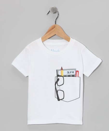 White Pocket Protector Organic Tee - Toddler