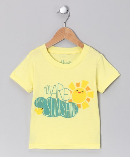 Yellow 'Sunshine' Organic Tee - Toddler