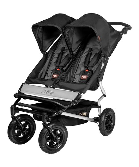 Mountain Buggy Black &amp; Flint Duet Double Buggy 2013 Model