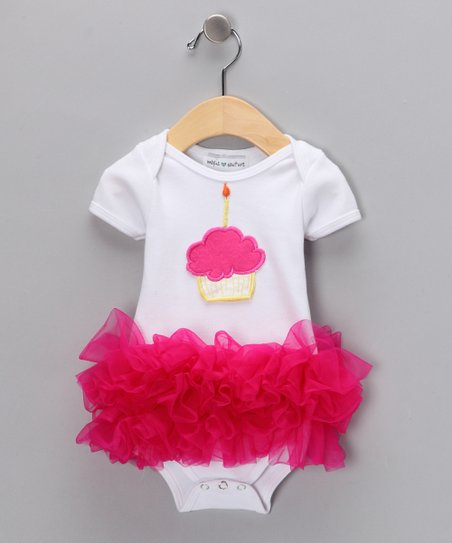 Hot Pink Cupcake Tutu Bodysuit - Infant