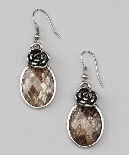 Silver Stained Glass Earrings