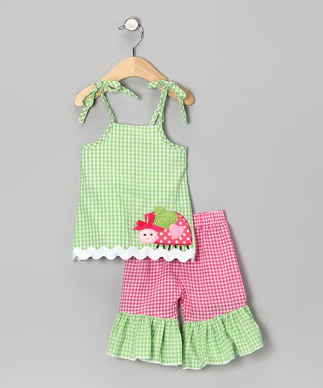 Green Ladybug Tunic & Pants - Infant & Toddler