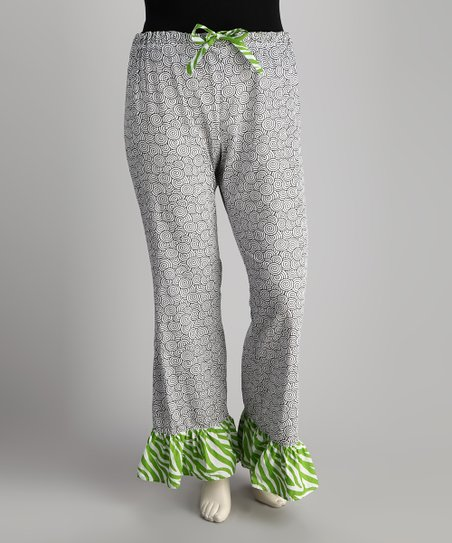 Black Swirl Pajama Pants - Women