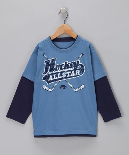 Captain Blue 'Hockey Allstar' Layered Tee - Toddler