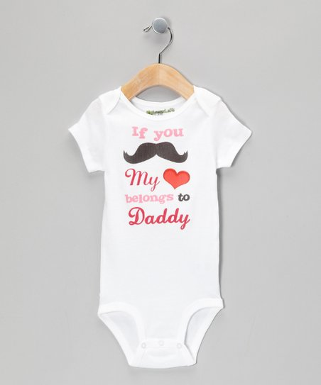White 'Belongs to Daddy' Bodysuit - Infant
