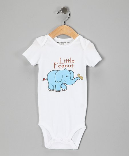 White 'Little Peanut' Bodysuit - Infant