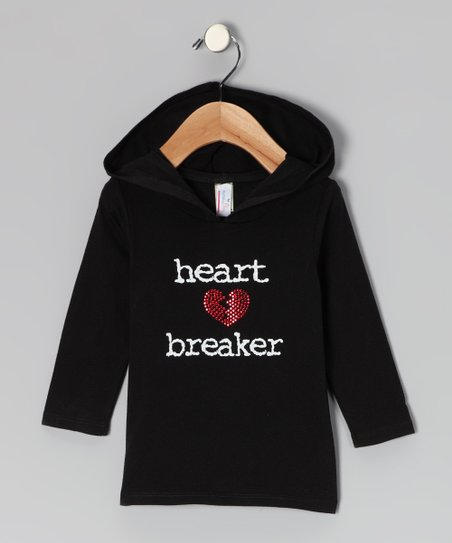 Black 'Heartbreaker' Hoodie - Infant, Toddler & Kids