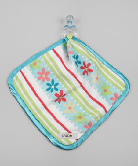Aqua & Tiffany Daisy Stripe Lovey