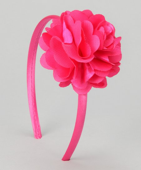 Hot Pink Flower Headband