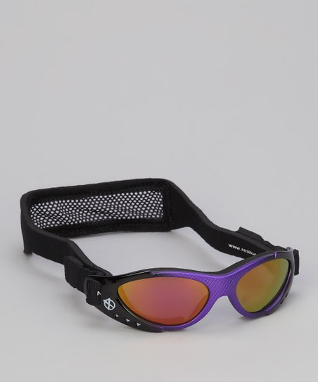 Purple & Black Xtreme Sunglasses & Strap - Toddler & Kids