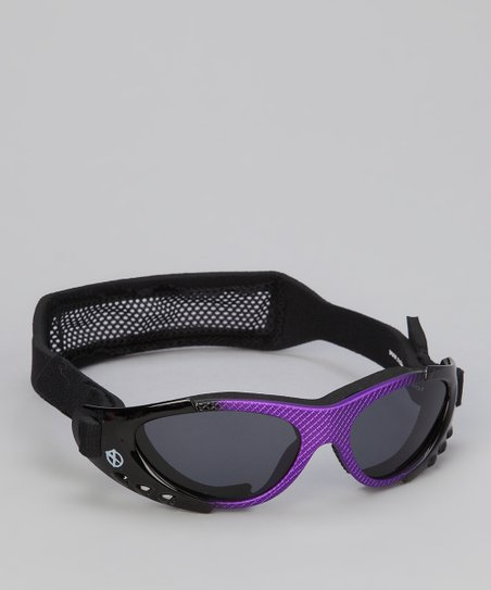 Purple & Black Xtreme Sunglasses & Strap - Kids