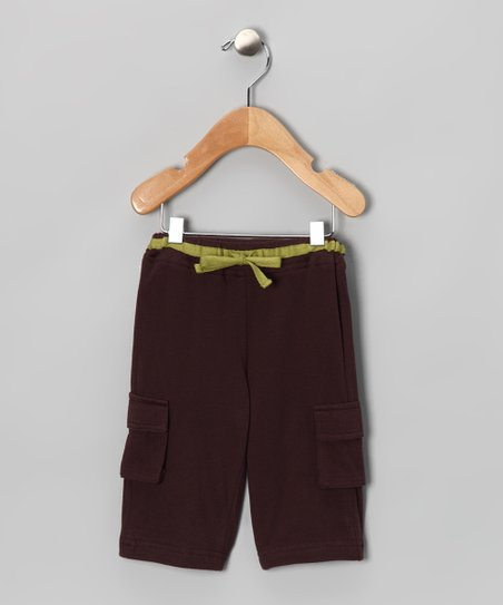Brown Organic Cargo Pants - Infant & Toddler