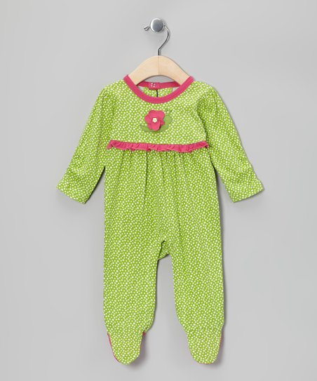 Green Flower Organic Footie - Infant
