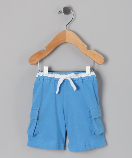 Blue Organic Cargo Shorts - Infant & Toddler