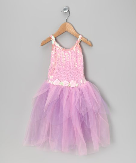 Pink & Lilac Sequin Tutu Dress - Toddler & Girls