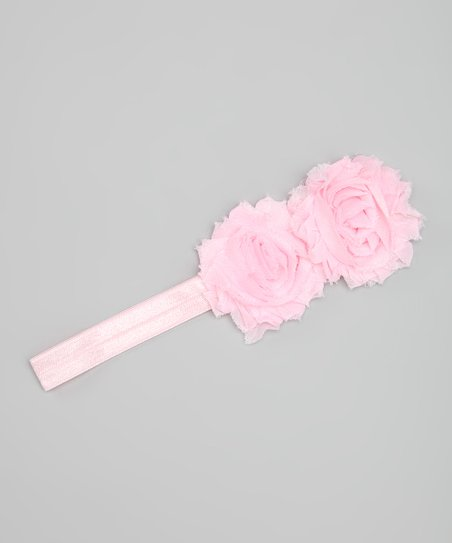 Light Pink Rosette Headband