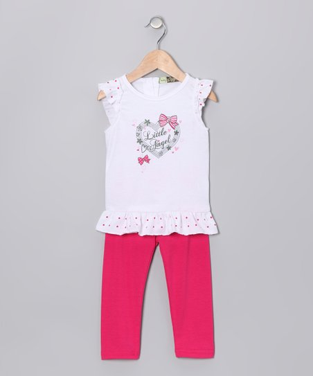 Fuchsia 'Little Angel' Tunic & Leggings - Infant