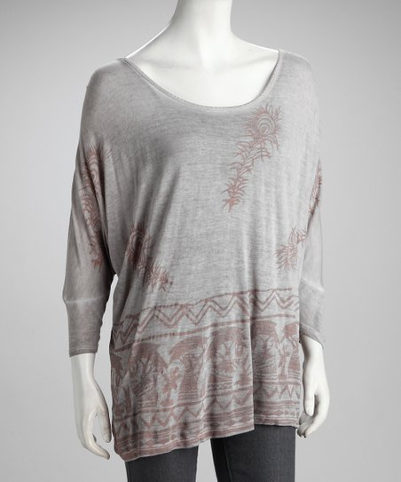 Gray Dolman Top