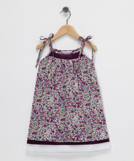 Purple Floral Layered Dress - Toddler & Girls