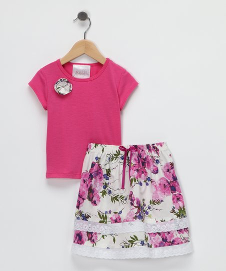 Orchid Ruffle Tee & Skirt - Toddler & Girls