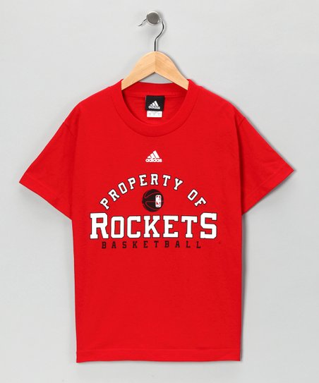 Red Adidas Houston 'Property of Rockets' Tee - Kids