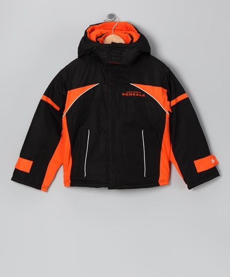 Black & Orange Cincinnati Bengals Jacket - Kids