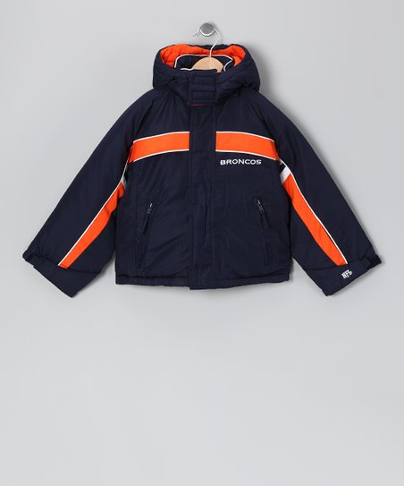 Navy & Orange Denver Broncos Jacket - Kids