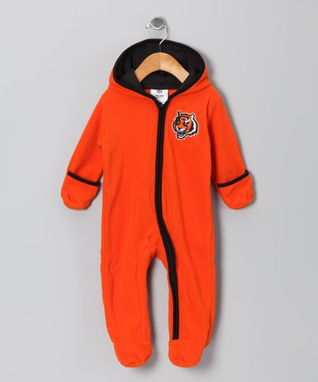 Orange Cincinnati Bengals Fleece Bunting - Infant