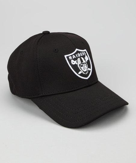 Black Oakland Raiders Performance Baseball Cap – Kids
