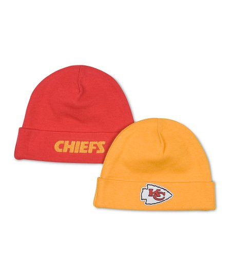 NFL Red & Gold Kansas City Chiefs Beanie Set
