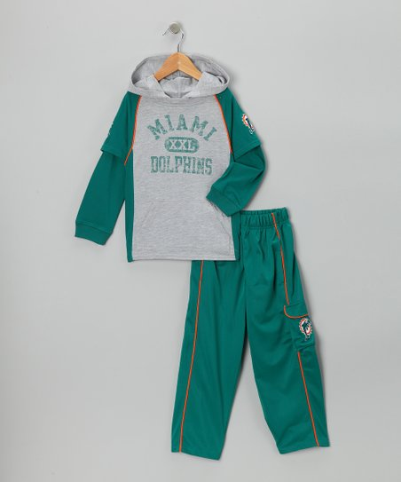 Miami Dolphins Layered Hoodie & Pants - Kids