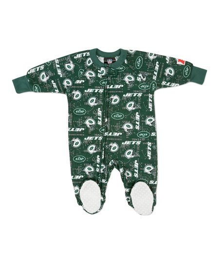 Green New York Jets Footie - Toddler
