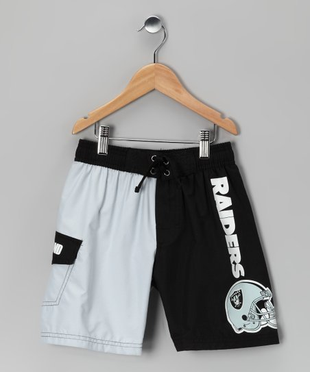 Oakland Raiders Swim Trunks - Kids
