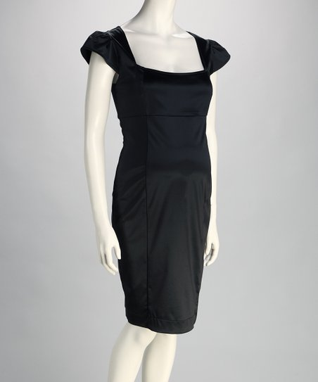 Black Giselle Maternity Dress